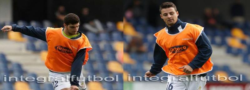 Álvaro y Naya, contentos por los tres puntos y sus primeros goles