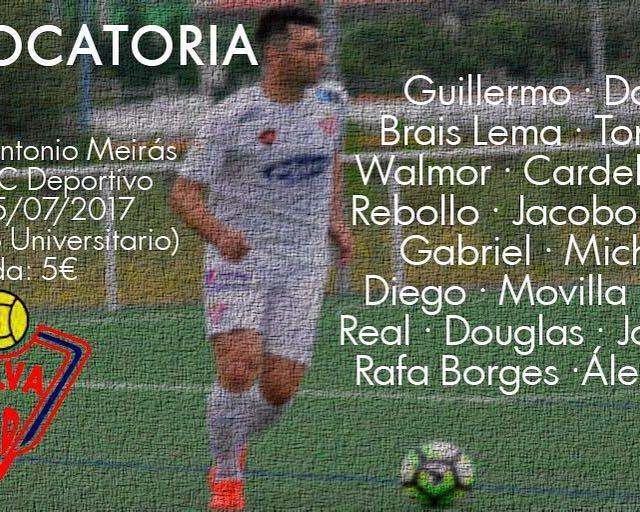 Lista de convocados del Silva1718 para el AntonioMeirs ante RChellip
