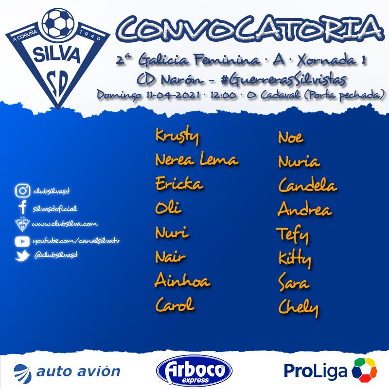 Convocatoria jornada 1: CD Narón – #GuerrerasSilvistas
